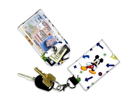 Mickey Mouse Mini porte monnaie carte support clair porte-clé ID porte petit porte monnaie étudiant ID Badge carte de crédit porte-clé Mickey Mouse oreilles vacances