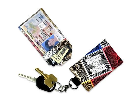 Game of Thrones l'ID mur portefeuille, Mini porte monnaie, porte longe, étiquette de bagage, vacances ID portefeuille