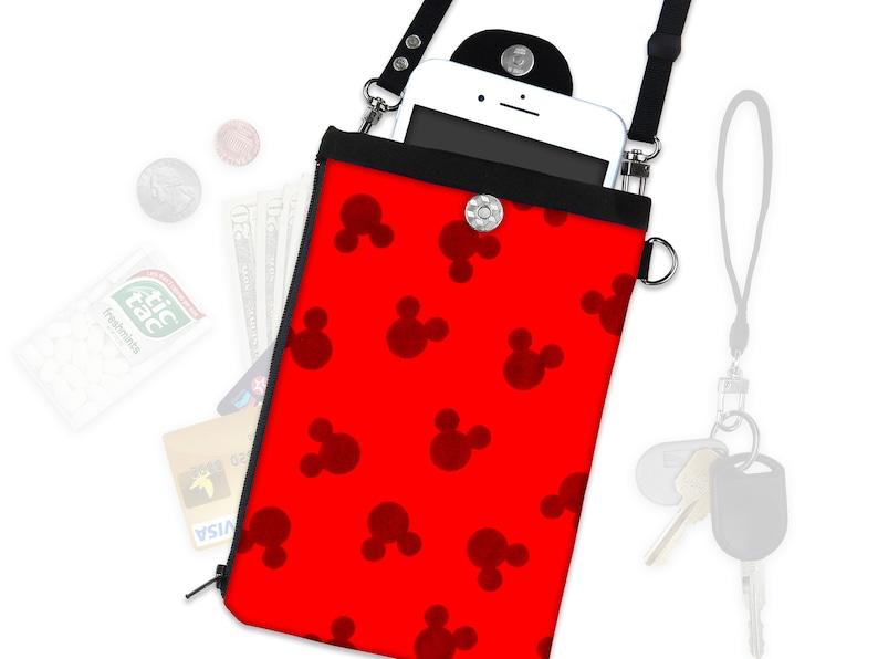 39b46c03a Disney Mickey Mouse Ears Crossbody Bag Phone Case ID Wallet   Etsy