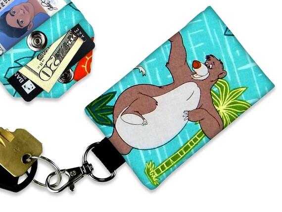 Sito ufficiale nuove immagini di 2019 reale Disney giungla libro Baloo ID portafogli, portafoglio piccolo cordino ID  Badge Holder, portafoglio da viaggio, portafogli portachiavi