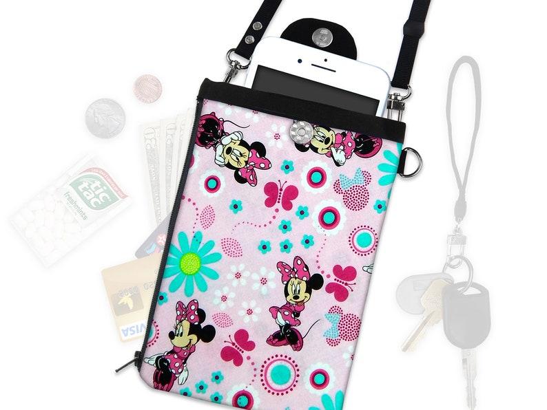 255e305df Disney Minnie Mouse Crossbody Bag Phone Case ID Wallet   Etsy