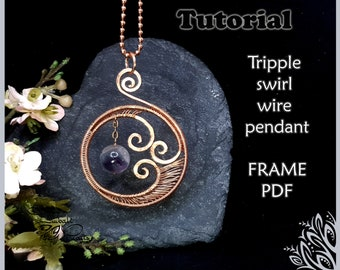 47mm x 25.5mm Antique Copper wire-wrapped top 2pc WIRE FRAME Nunn Design Large Pear Drop Silver or Gold Plated