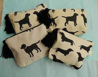Labrador/Dachshund Make Up Bag