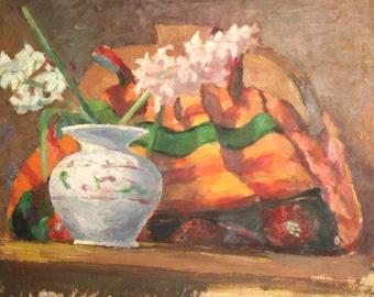 European art antique oil painting still life