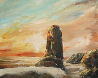 1998 Seascape oil painting signed