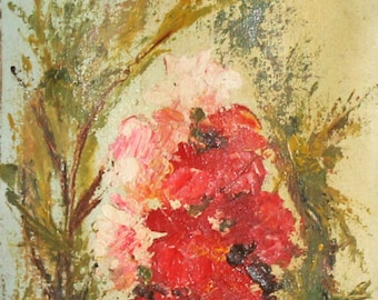 1991 Impressionist oil painting still life signed