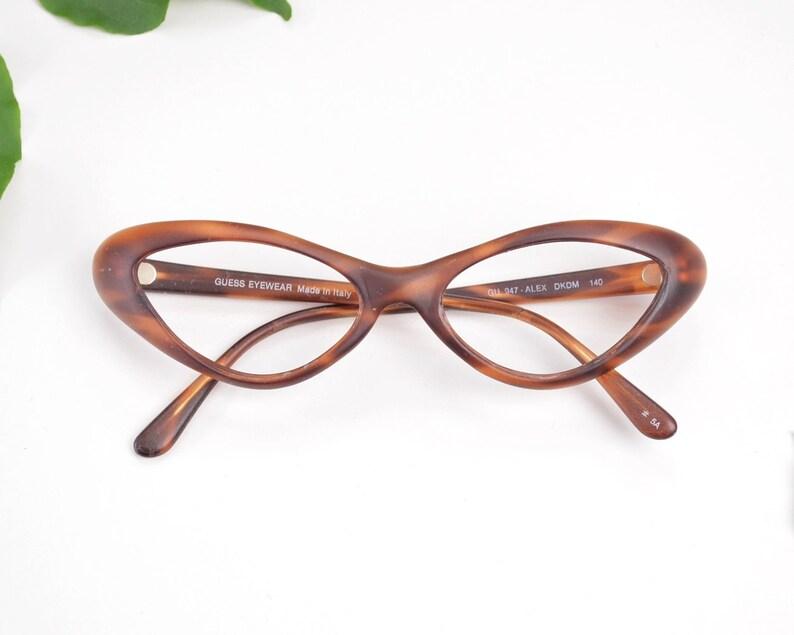 34ade660ed4 Cat Eye Glasses Vintage Glasses Frames Guess Eyewear 50s