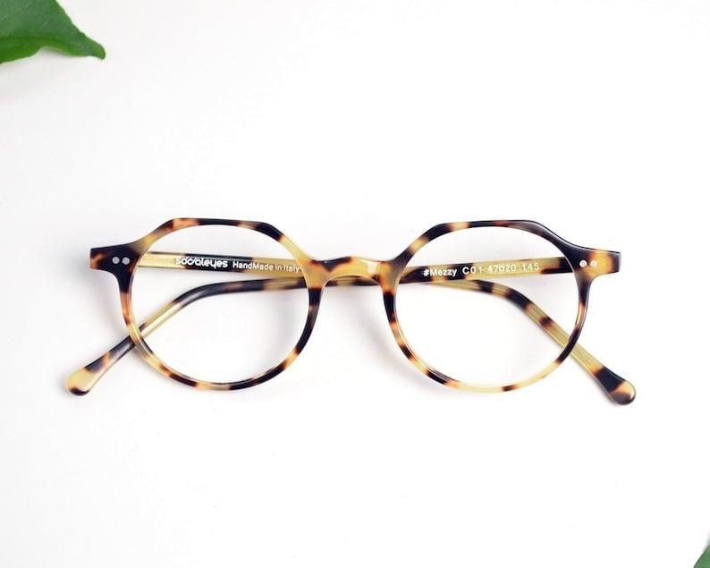 370bfb7a8469 Round Eyeglasses Tortoise Shell Glasses Unisex Eye Glasses