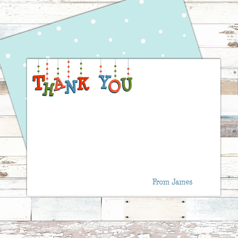 Free UK shipping Flat double sided Christmas thank you cards 20 Festive thank you notecards Personalised with your namenames
