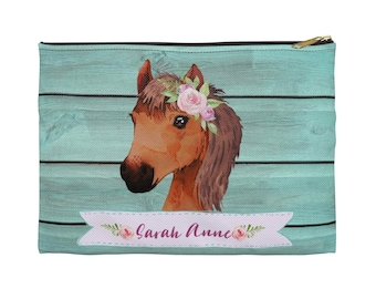 Personalised Girls Bag HORSE Shoulder Small Messenger Pony Cute School Gift KS14