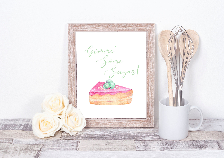 f51354212 Gimme Some Sugar Kitchen Sign Cake Instant Download | Etsy