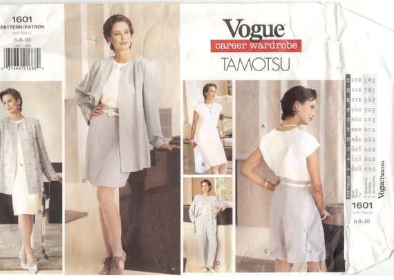 Vogue 1601 taille 6 8 vogue carrière garde robe 10 femmes par