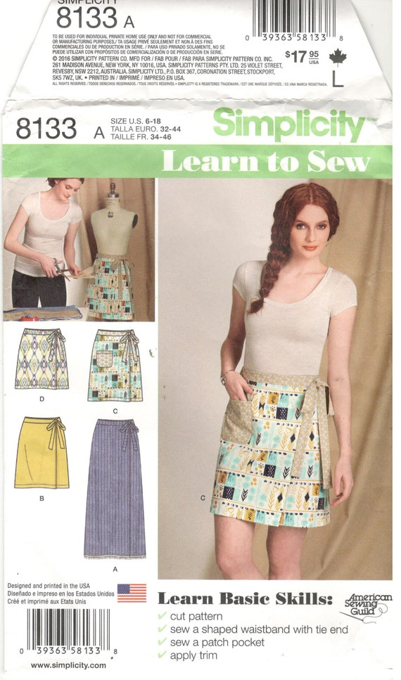 Simplicity Sewing Pattern 8133 Size 6 8 10 12 14 16 18 Etsy