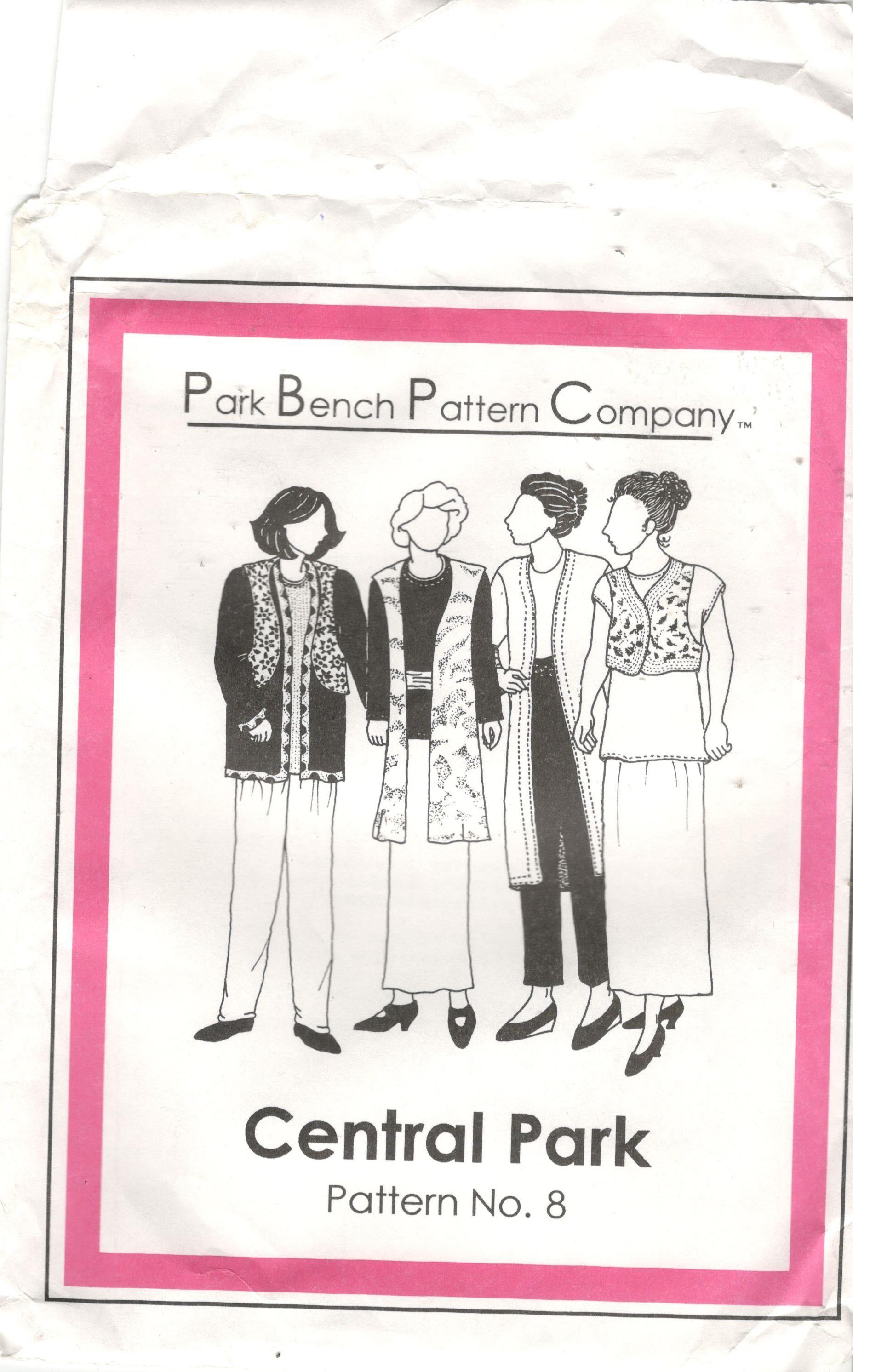 Park Bench Pattern Co Central Park One Size Women S