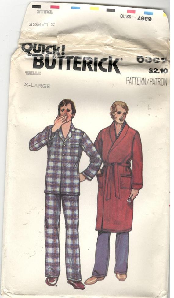 Butterick 6367 Größe XL 46 48 Herren Pyjama und Hose oder | Etsy