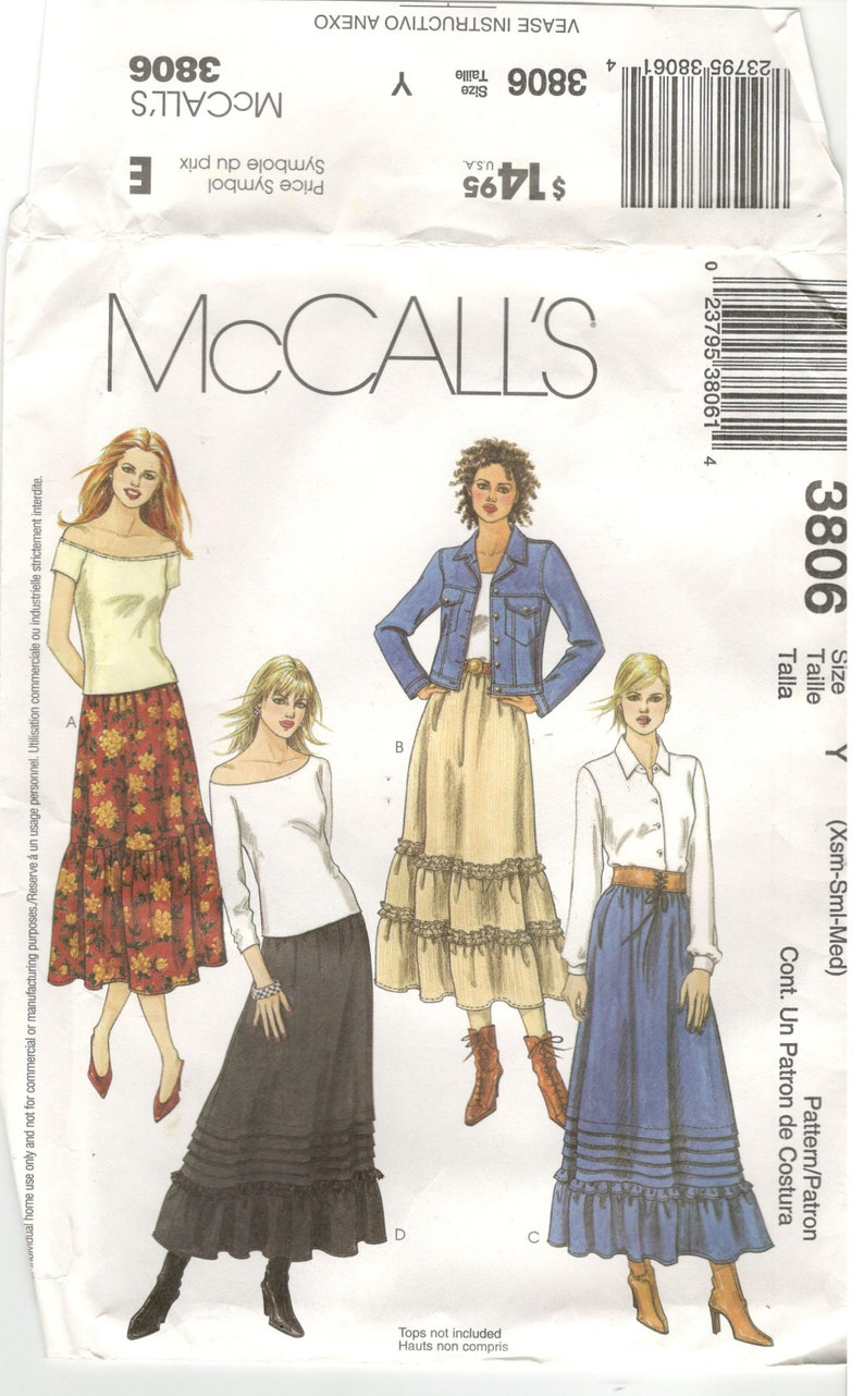 Style 2323 Pattern Simplicity Vests Flare Full Maxi Skirt UC Sz 8-10-12-14-16-18