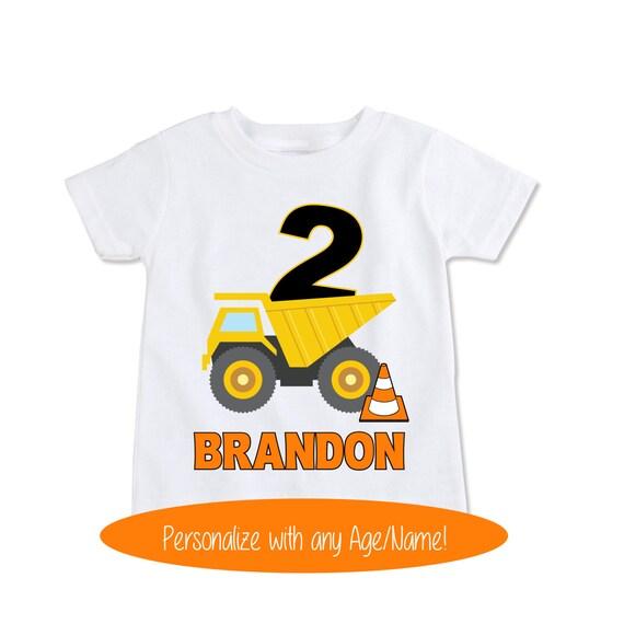 Dump Truck Shirt Construction Birthday Toddler Gift
