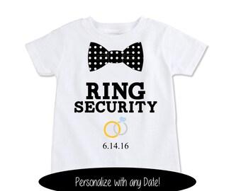 Ring Bearer Gift, Ring security shirt, ring bearer shirt, ring bearer outfit, Wedding party Gifts kids wedding favors, ringbearer (EX 369)OB