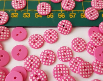 size 18mm novelty various colours and quantity Star buttons with polka dots