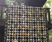 Special Listing for Kim - Quilt Patchwork Queen Size Half Square Triangles