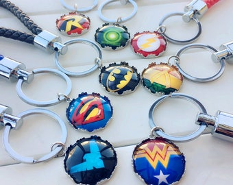 Superhero keychain, Justice League Keychain