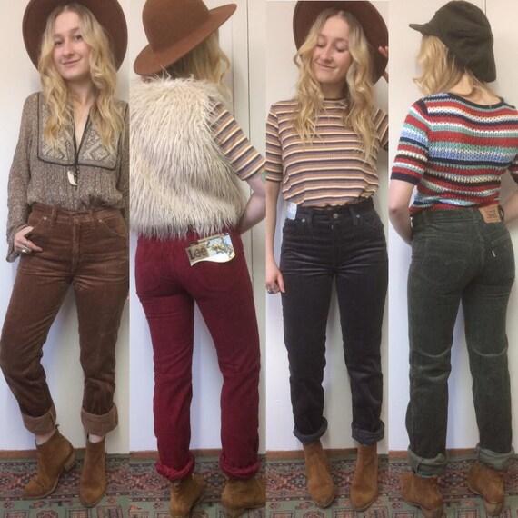 Vintage Cords Corduroy Jeans Cord Trousers Pants