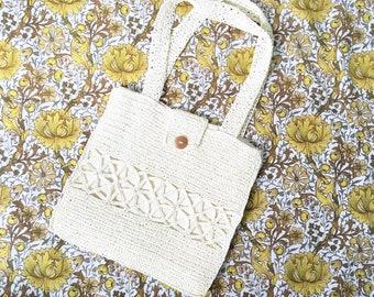 Vintage Bag, Raffia Bag, Wicker Bag, Woven Bag, Shopping Bag, Tote Bag, Beach Bag,