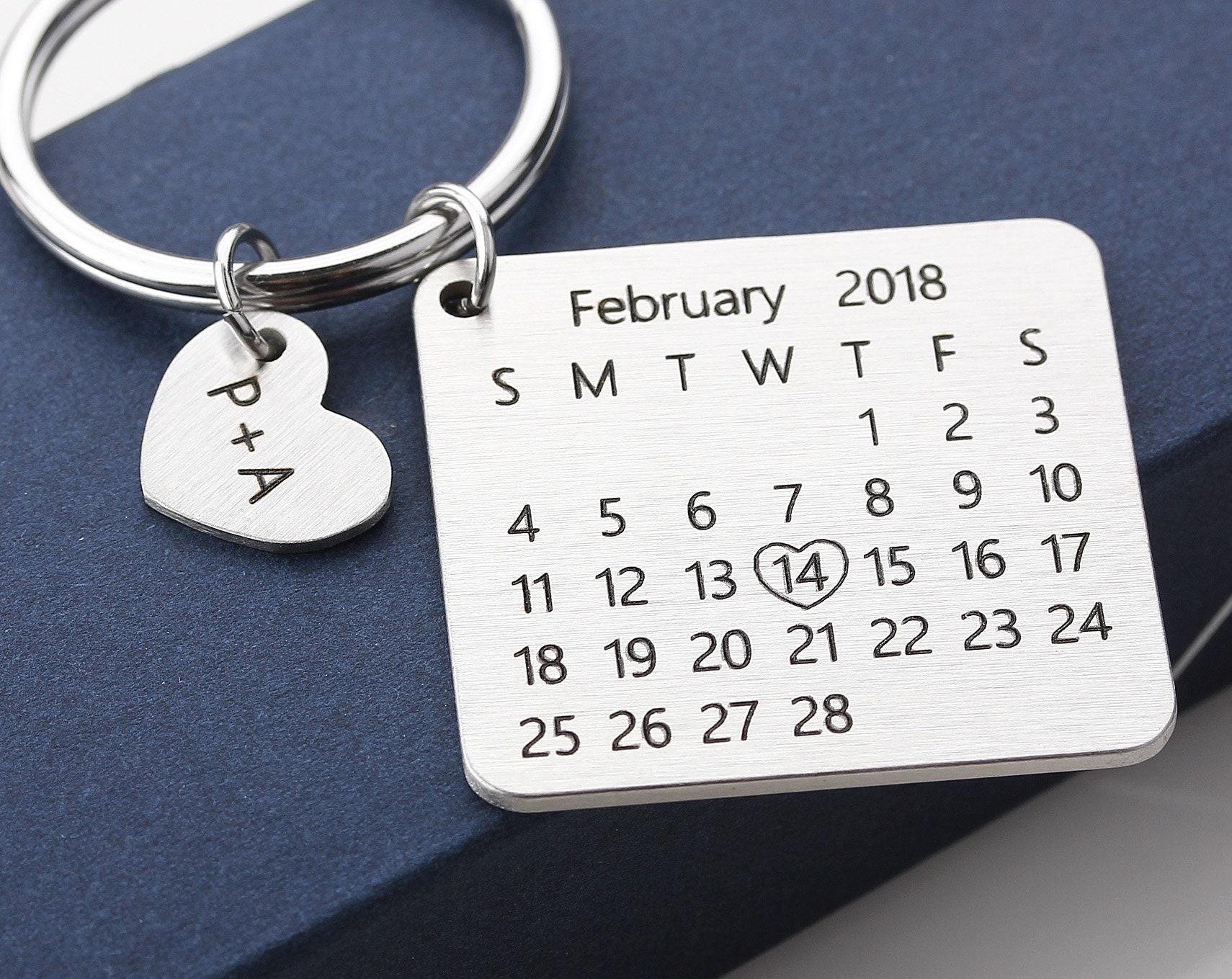 Portachiavi calendario personalizzato