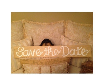 Wood Save the Date Sign (Double-Sided)