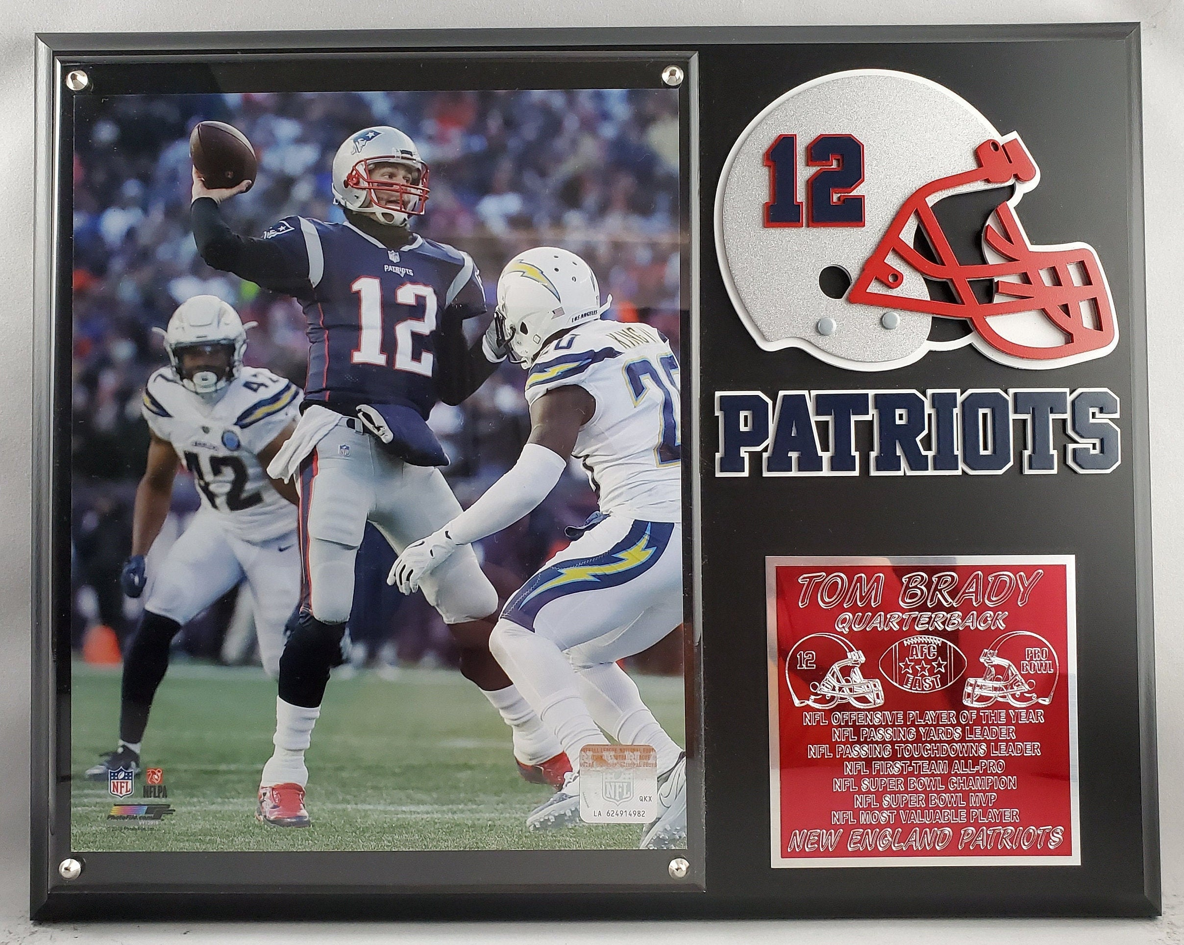 NFL Tom Brady New England Patriots Player Plaque