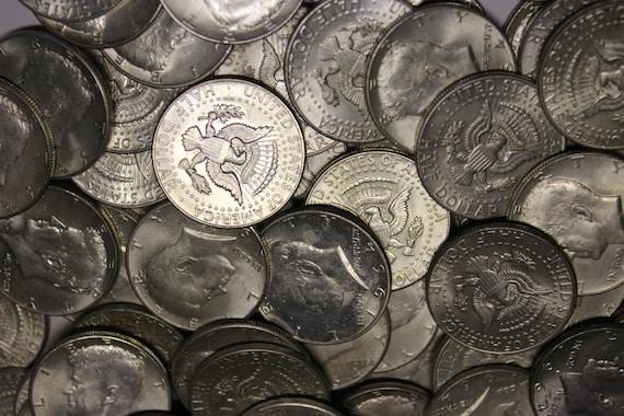 MAKE OFFER 6 Standard Ounces 1964 Silver Kennedy Half Dollars Junk Coins