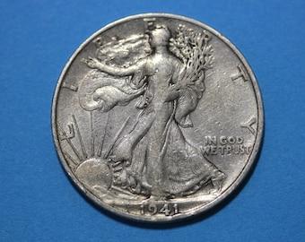 2 Silver Walking Liberty Half Dollars Junk Silver Coins Legible Dates NO Slicks or Major Damage Flat Rate Shipping