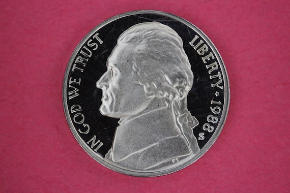 Deep Cameo! 1988-S Proof Jefferson Nickel