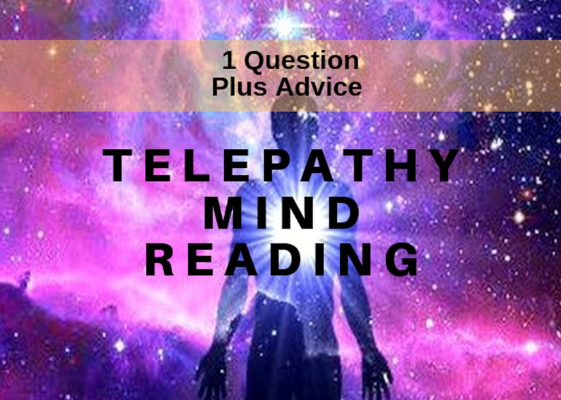 Intuitive Mind Reader Telepathy, Telepathic Love Mental Psychic Reading,  Clairvoyant Telepathy Reading, Love Reading Telepathic