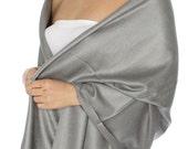 Gray bridesmaid gift scarf - Gray Pashmina - gray wedding favors -gray party favors - gray wedding pashmina