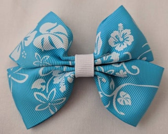 Blue Hibiscus Hairbow
