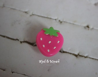 small Strawberry rose ring
