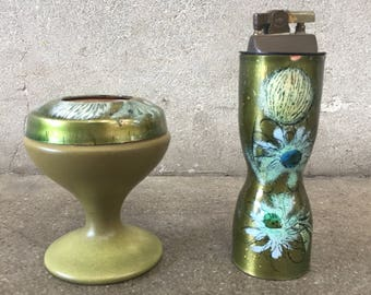 Mid Century Lighter and Ashtray by Sascha Brastoff (6SVSAP)