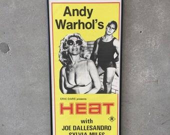 1972 Original Andy Warhol's HEAT Movie Poster (ZCT12K)