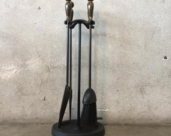 Mid Century Fireplace Tool Set by Pelgrim USA (H9Y492)