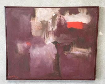 Modern Oil Painting on Canvas by Artist Patricia C. Proebsting (8U8Q6X)