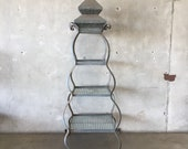 Large Vintage Garden Pagoda Plant Stand (PAZX4C)