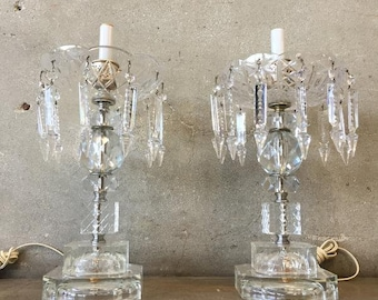 Crystal Table Lamps Etsy