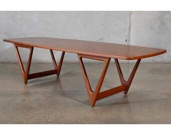 Teak Coffee Table by Kurt Ostervig for Jason Mobler (NBS6AL)