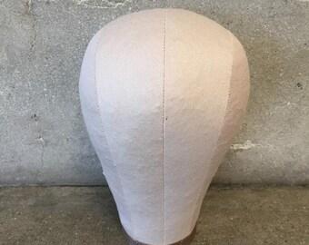 1960's Canvas Cloth Milliner Head Form (BL27ZB)