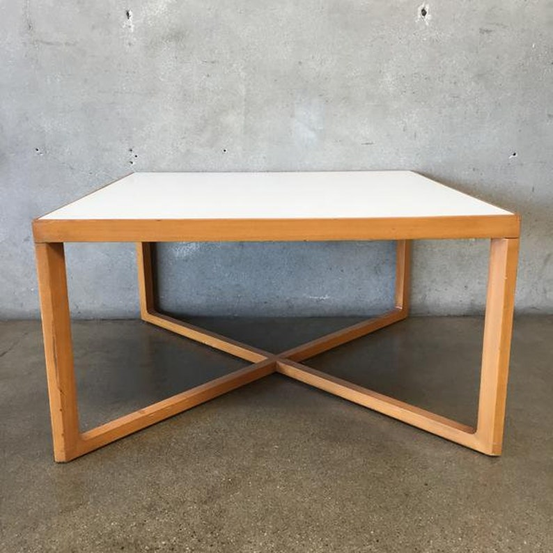 Mid Century Marble Quartz Coffee Table