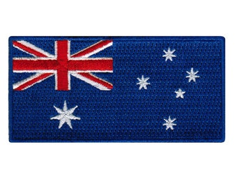 AUSTRALIA FLAG Iron on  Sew on Patch Embroidered Badge Australian Aussie PT66