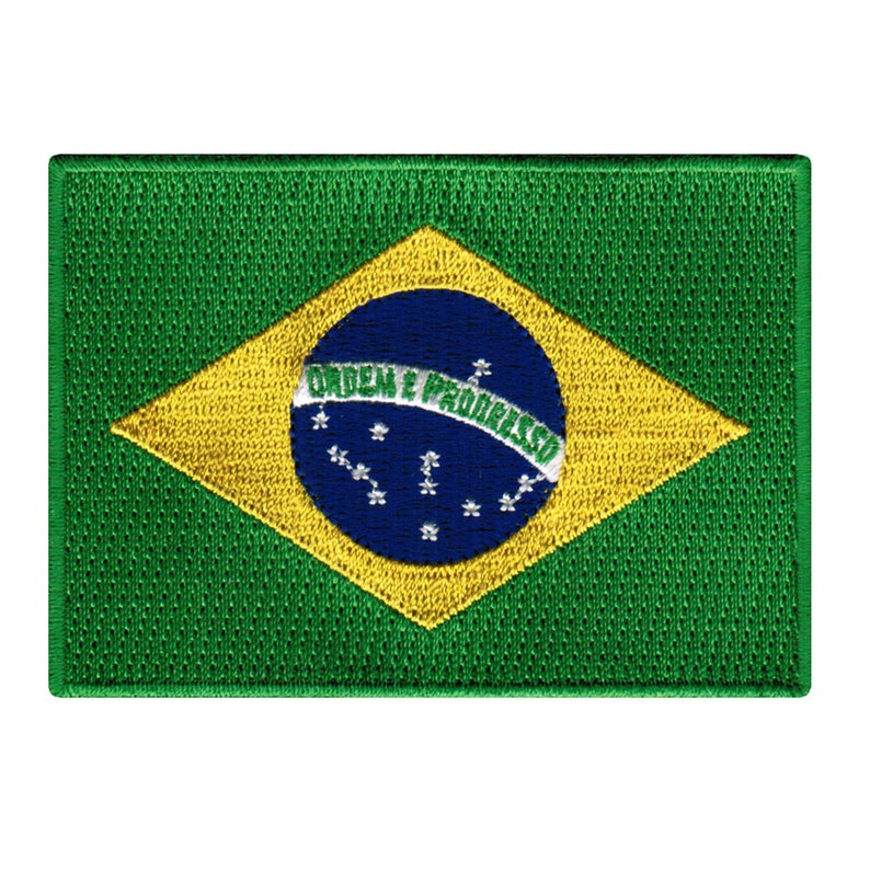BRAZIL FLAG PATCH iron-on embroidered applique Top Quality Brasil World Cup