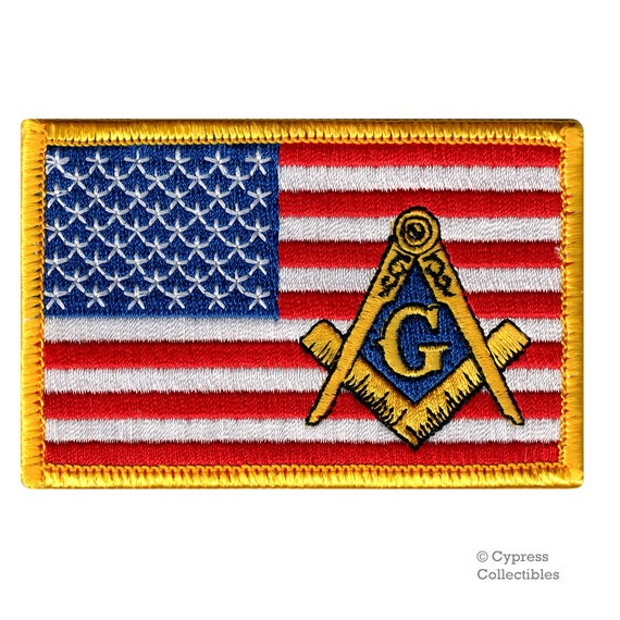 FreeMason Masonic Square and Compass G Logo Embroidered Sew //Iron-on  Patch