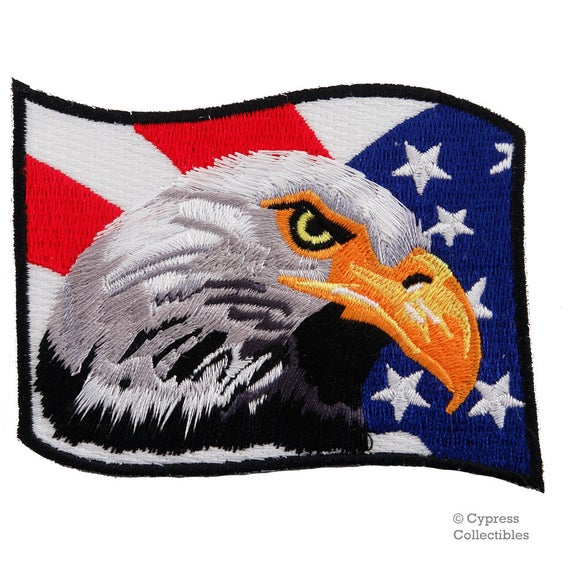 """AMERICAN EAGLE IRON ON BIRD PATCH APPLIQUE 2.5/"""" x 3.5 Inches"""